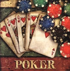 Poker  Mollie B. Games room artwork