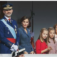 Princess Leonor And Infanta Sofia with their parents join Spanish National Day On 12th October,2017