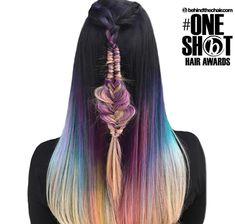Flex-Tip Nano Hair Extensions Hair Color Purple, Blue Hair, Shot Hair Styles, Long Hair Styles, Braided Hairstyles, Cool Hairstyles, Infinity Braid, 100 Human Hair Extensions, Mermaid Hair