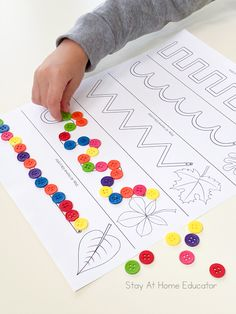 Fall Prewriting Worksheets +5 Fine Motor Activities - Stay At Home Educator