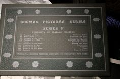 Cosmos Picture Series F / Antique late 1800s early by FoundAround, $9.00