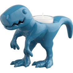 So flippin' cute  dino candleholder in candleholders, candles | CB2