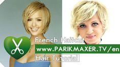 How To Have Hair Like Jessica Alba. French Haircut Tutorail parikmaxer t...