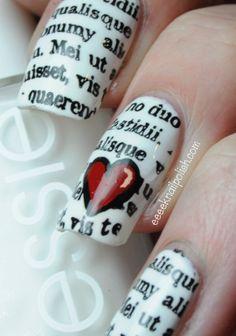 News paper nails!!! Super easy #nailart