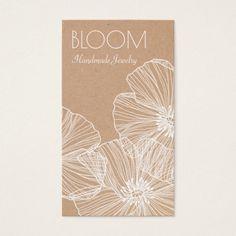 222 best craft artist business cards images on pinterest lyrics rustic floral tan kraft cardboard crafter business card colourmoves