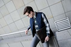 GMALE by Grzegorz Paliś, Male fashion blogger, Sleeveless, Wool Pants, Brogues, Smart Casual