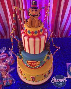 Fisher price 1st birthday circus cake Circus cake  1st birthday cake wedding cake, birthday cake, custom cake, baby shower cake
