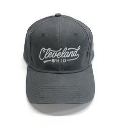 Vintage Grey Script Cleveland Dad Hat 78b0c8295222
