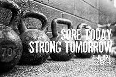 Sore today. Strong tomorrow. #KettlebellStrong
