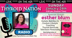 Esther shares her tips on how to thrive with thyroid disease. She is a best-selling author and full of wonderful information. The show is full of helpful tips and a ton of lighthearted fun!  http://ThyroidNation.com/Thyroid-Nation-Radio  Or find us on iTunes  #Esther #Blum #Gorgeous #Thyroid