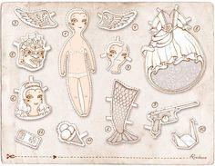 small objects by Anna Rusakova, via Behance