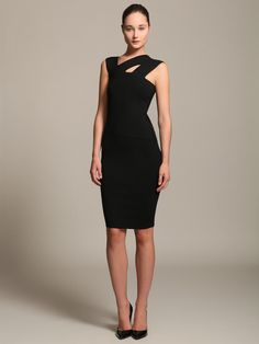 Narciso Rodriguez Knit Wool Blend Dress