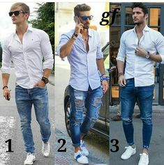 Men in jeans Mens Casual Jeans, Casual Wear For Men, Men In Jeans, Formal Dresses For Men, Ripped Jeans Outfit, Patterned Jeans, Herren Outfit, Badass Style, Mens Clothing Styles
