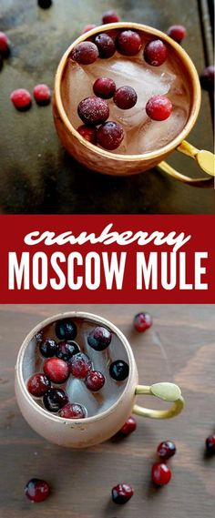 Moscow Mule with Cranberries