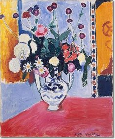 Henri Matisse European Master Painter - Bouquet Vase with Two Handles 1907 Painting