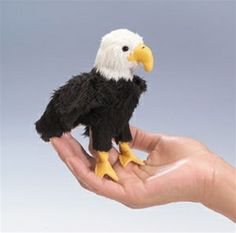 stuffed eagle crafts   Plush Eagle Mini Finger Puppet By Folkmanis Puppets At Stuffed Safari