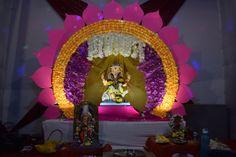 Birthday Balloon Decorations, Backdrop Decorations, Festival Decorations, Flower Decorations, Ceremony Decorations, Flower Decoration For Ganpati, Ganpati Decoration Design, Mandir Decoration, Ganapati Decoration