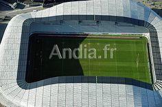 Paris (75). Vue aérienne du nouveau Stade Jean Bouin