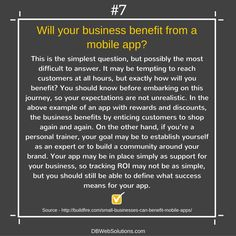 Will your business benefit from a mobile app?  #Business #Benefit #MobileApp #Mobile #App #Customers #Shop #Community #Brand #ROI #Success
