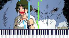 Princess Mononoke (Mononoke Hime) - Easy Piano Ghibli [Synthesia Piano Tutorial + midi] Piano Tutorial, Princess Mononoke, Studio Ghibli, Tutorials, Music, Easy, Anime, Musica, Musik