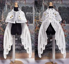 """attlebridge: """" OOAK """"Fairy Knight"""" cape for ¼ BJD. This is another lace-wing cape I made. I think it would look nice on one of the Fairyland centaurs. Mode Lolita, Estilo Indie, Fairy Dress, Cosplay Outfits, Character Outfits, Looks Cool, Mode Inspiration, Lolita Fashion, Costume Design"""