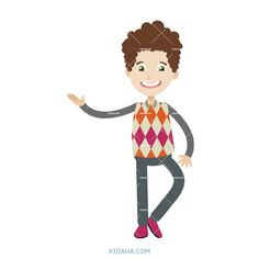 kid student character vector illustration #kid #character #cartoon #kidaha #characterdesign #planner #student #education #vector Kid Character, Character Design, Student Cartoon, Boy Or Girl, Things To Come, Clip Art, Education, Learning, Illustration