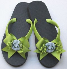 Sorority Gifts, Flip Flops, Big Sister/Little Sister Gift, Custom Sorority, College Students, Greek, Decorated Flip Flops, Back To School