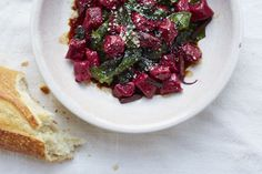 with Wilted Beet Greens and Aged Balsamic - sprinkled with goat cheese ...