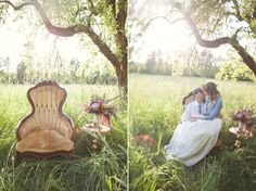 Vintage Chair - Bohemian Romance Engagement Session