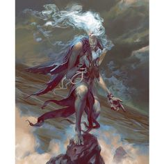 Sathariel, Angel of Deception #instaart #nofilter #art #painting #angel #fantasy #angelarium #conceptart #clouds #smoke