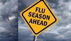 """Flu Season Ahead"" flu-season-sign-TS-154111620-628"