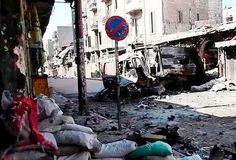 Calle bombardeada en Aleppo Foto: Scott Bobb/Voice of America News