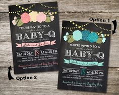Rustic Baby-Q Baby Shower Invitation Baby Shower BBQ