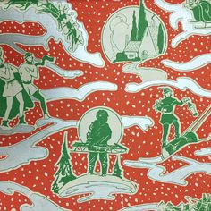 Vintage holiday wrapping paper from 1940! ❤️☃❄️ #picturecollection100
