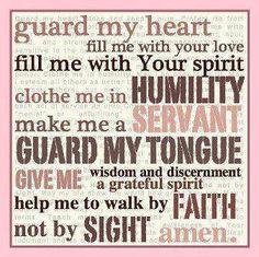 A daily prayer.