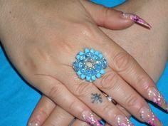 anello in swarovski di colore turchese!!!