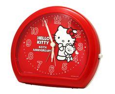 Hello Kitty 40th anniversary limited ★ alarm clock | Goods | Hello Kitty 40th Anniversary Special Site