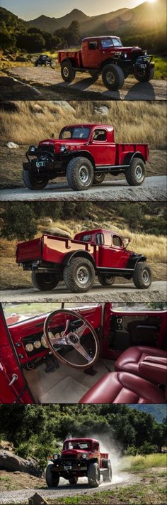 """Legacy Classic Power Wagon Originally billed in advertising as """"a self-propelled power plant,"""" the Dodge Power Wagon was a commercial truck produced from 1945 to 1981 that was based on the WC series of WWII military trucks. The moniker has been revived an Pickup Trucks, Dodge Trucks, Jeep Truck, Jeep Pickup, Chevrolet Trucks, Chevrolet Impala, Lifted Trucks, Dodge Power Wagon, Cool Trucks"""