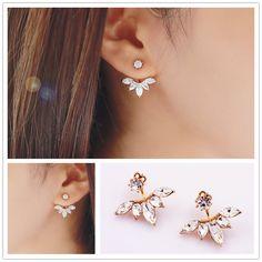 New fashion jewelry rhinestone della vite prigioniera della clip regalo per le donne ragazza E2876