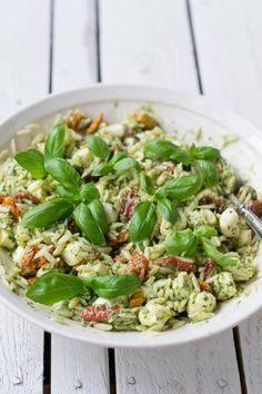 Halloumi, Tzatziki, Balela Salad Recipe, Pesto Pasta Salad, Tomato Pesto, Avocado Salad, Kung Pao Chicken, Orzo, Bon Appetit