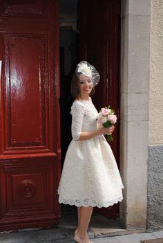 50´s bride dress. Vestido de novia años 50