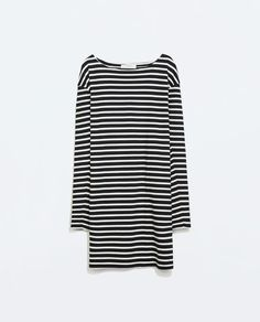 Image 6 of STRIPED LONG-SLEEVED DRESS from Zara