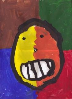 Art Project for kids: Matisse Inspired Portraits