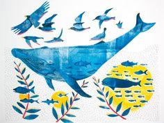 La Balena by Laura Fanelli, via Behance // Painting Inspiration, Art Inspo, Gelli Arts, Behance, Surf Art, Doodle Drawings, Graphic Design Typography, Surface Pattern, Graphic Illustration