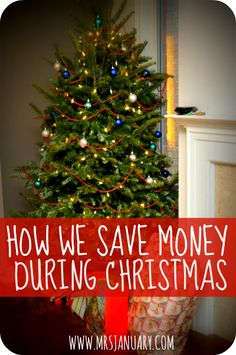 How We Save Money During Christmas via MrsJanuary.com - Keep your finances in check this Christmas!