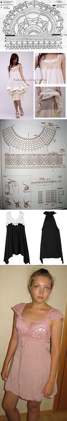 Sundresses cloth + knitting.