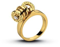 1eb6ab9becf93 Bvlgari Ring Bzero1 14k yellow gold and steel   Bvlgari Ring ...