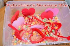 Dirt & Dinosaurs: Simple Valentine's Sensory Bin
