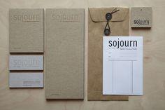 Sojourn Identity      PRODUCTION METHOD  Letterpress  Offset    DESIGN  Wink Design Atelier      PRINTING  Rohner Letterpress  Active/Unique Graphics