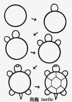 Para a Quarentena em casa: Passo a passo de como desenhar coisas fofas - Pra Quem Tem Estilo Easy Doodles Drawings, Easy Doodle Art, Art Drawings Sketches, Animal Drawings, Cute Drawings, Drawing Art, Drawing Ideas, Drawing Faces, Simple Drawings